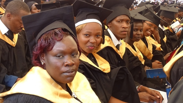 Graduands during the 2015 graduation celebrations at UoK